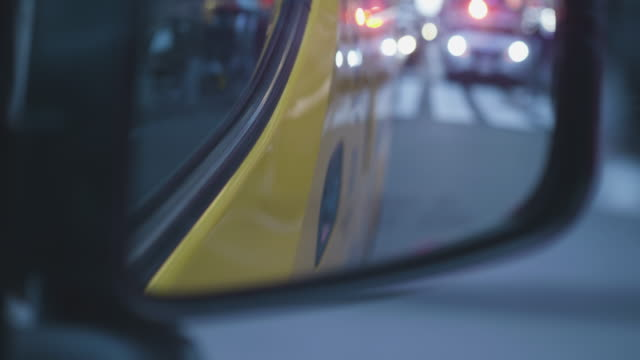 new york taxi side view mirror - police force stock videos & royalty-free footage
