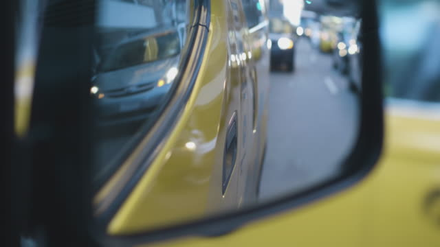 new york taxi side view mirror - taxi stock videos & royalty-free footage