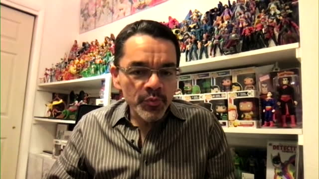 """new york times journalist george gustines saying dc comics making superman come out as bisexual will make """"people pay attention"""" - superman superhero stock videos & royalty-free footage"""
