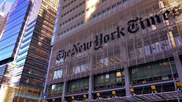 new york times magazine building - manhattan stock videos & royalty-free footage