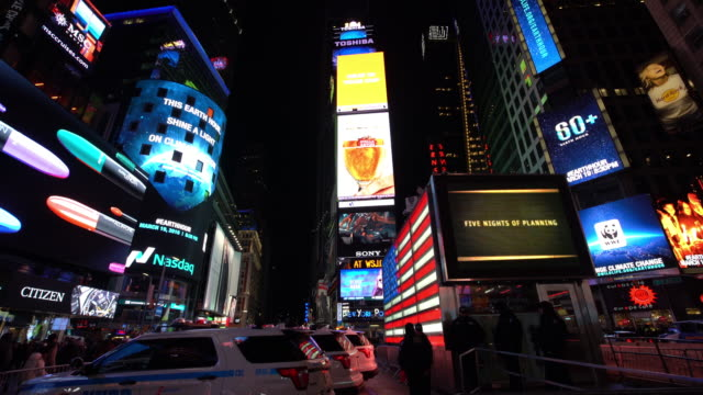 new york times square at night - manhattan new york city stock videos & royalty-free footage