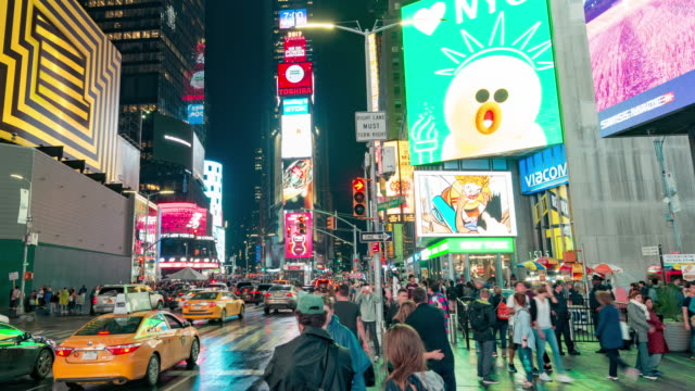 new york times square time lapse panorama - marketing stock videos & royalty-free footage
