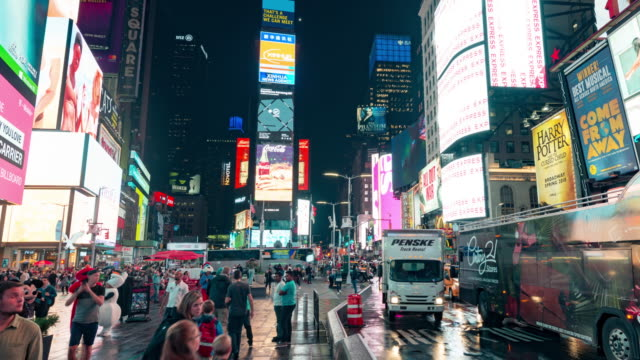 new york times square time lapse panorama - excess stock videos & royalty-free footage