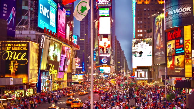 new york. times square - manhattan theater district stock videos and b-roll footage