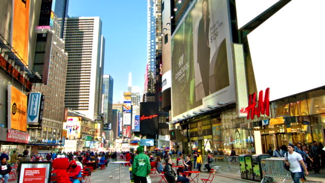 new york. times square - banner sign stock videos & royalty-free footage