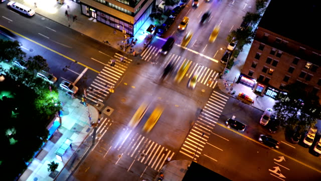 new york traffic. - road intersection stock videos & royalty-free footage