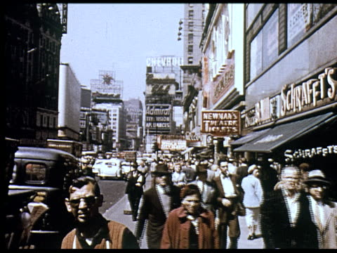 stockvideo's en b-roll-footage met 1956 new york travelogue - 12 of 12 - 1956