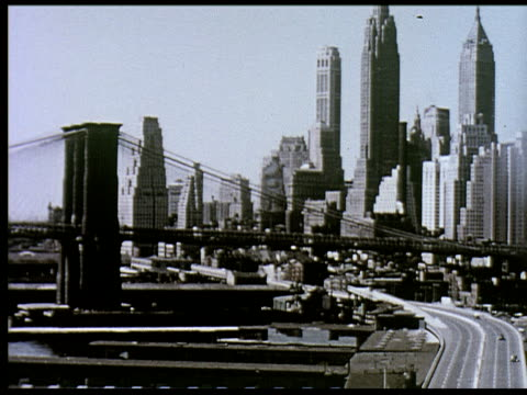 1956 new york travelogue - 3 of 12 - 1950 stock-videos und b-roll-filmmaterial