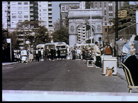 1956 new york travelogue - 5 of 12 - greenwich village stock videos & royalty-free footage