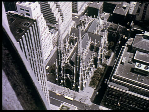1956 new york travelogue - 8 of 12 - radio city music hall stock videos & royalty-free footage