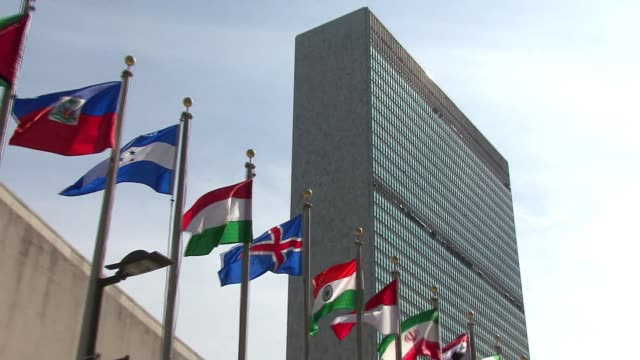 new york - un building - united nations building stock videos and b-roll footage