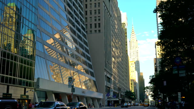 new york university sps, grace plaza office buildings at midtown center, 42nd street - 42nd street stock videos & royalty-free footage