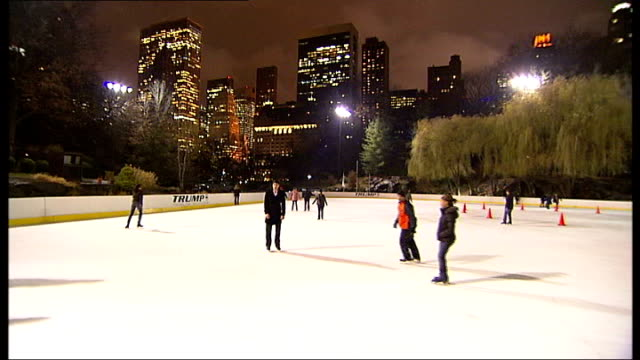 new york versus london in competition for metro city of 2008; usa: new york: new york: * * music heard during the following shots sot * * general... - ice skating stock videos & royalty-free footage