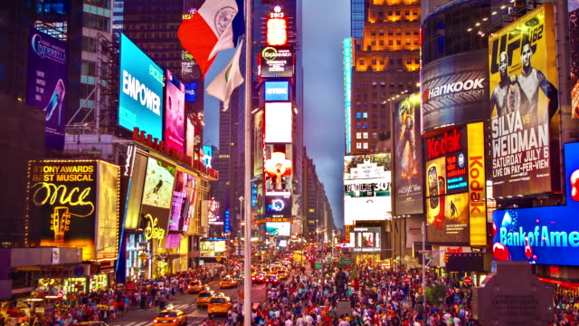 new york - broadway manhattan stock videos & royalty-free footage