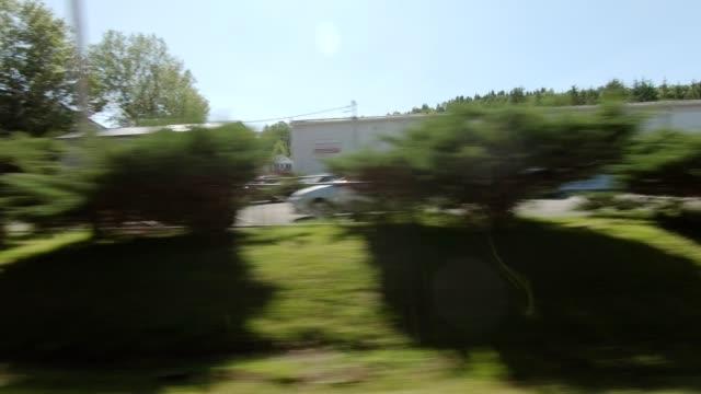 vídeos de stock, filmes e b-roll de série de vista direita nova york xviii dirigindo placa de processo studio - perspectiva do passageiro