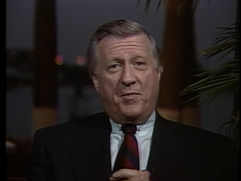 new york yankees owner george steinbrenner discusses returning to baseball after a two year ban. - ecstatic stock videos & royalty-free footage