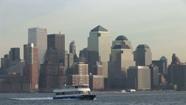 New YorkDistant view of city in a day New York United States