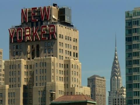 vídeos y material grabado en eventos de stock de new yorker magazine building, usa - usa