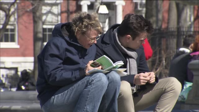 New Yorkers Outside Enjoying Warmer Spring Weather