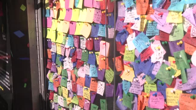 NY: New Yorkers share their hopes for 2021 at Times Square Wishing Wall