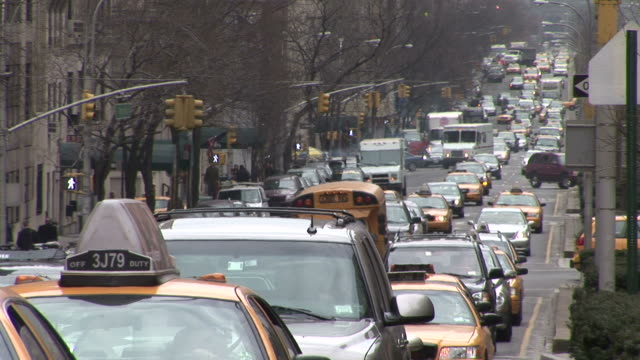 New YorkHeavy traffic in the City Street of New York United States