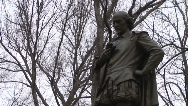 New YorkShakespeare statue in Central Park in New York United States