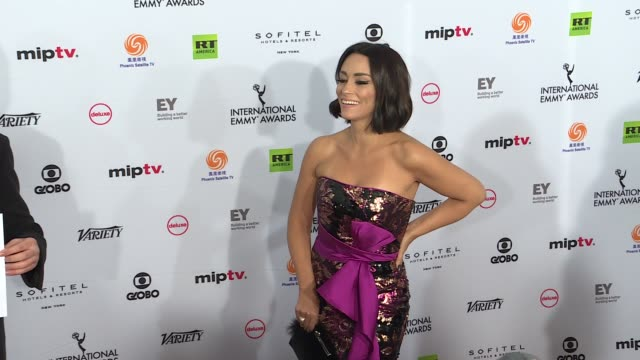 new yorkthe international academy of television arts and sciences emmy awards ceremony started at new york hilton on november 19 2018 in new york... - emmy awards stock-videos und b-roll-filmmaterial