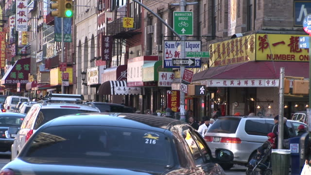 new yorkview of china town in new york united states - chinatown stock videos & royalty-free footage