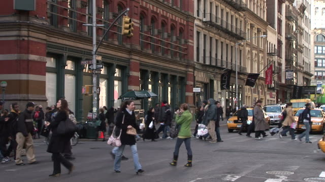 new yorkview of city street in new york united states - pushchair stock videos and b-roll footage
