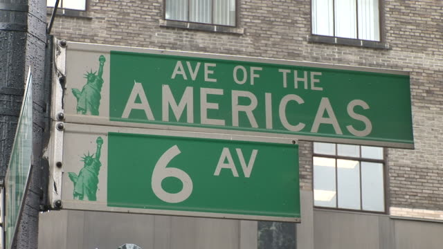 New YorkView of signboards in New York United States