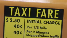 New Yorkview Of Taxi Fare Charges On A Taxi Cab In New York United States  Stock Footage Video