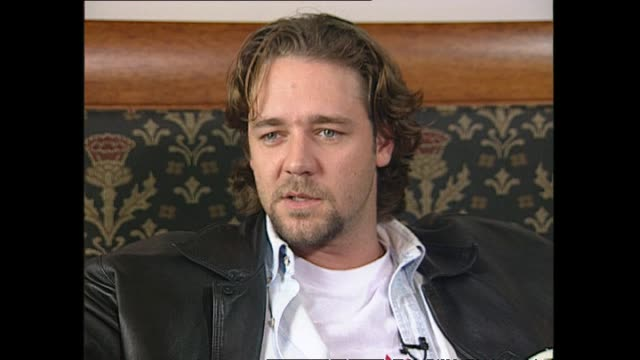 new zealand born australian based actor russell crowe speaking in 1997 about whether he considers himself a new zealander or australian and relating... - russell crowe stock videos & royalty-free footage