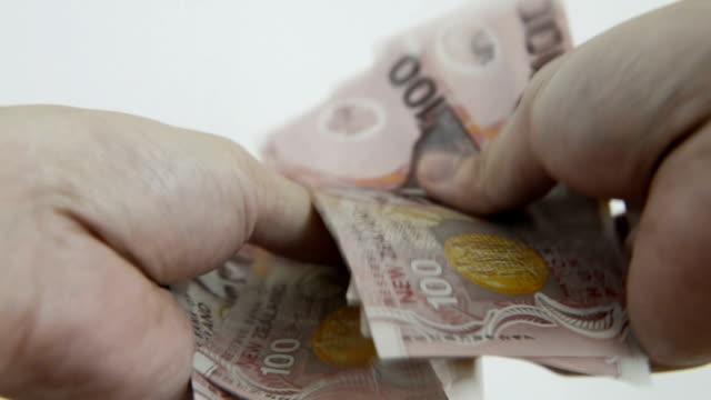 ニュージーランドドル - 金銭に関係ある物点の映像素材/bロール