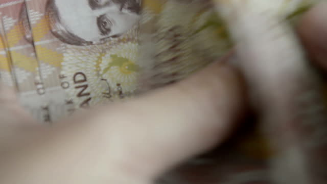 new zealand dollar - banknote stock videos & royalty-free footage