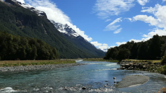 New Zealand Fiordland river view