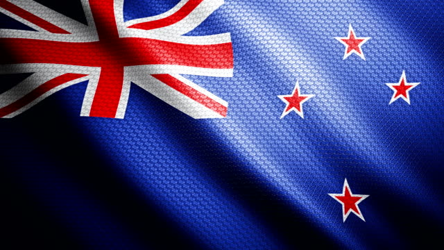 new zealand flag 4k - flag stock videos & royalty-free footage