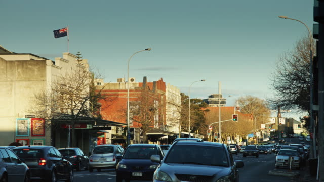 New Zealand Flag Flying Over Ponsonby Road