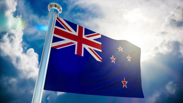 4k - new zealand flag | loopable stock video - australian politics stock videos & royalty-free footage
