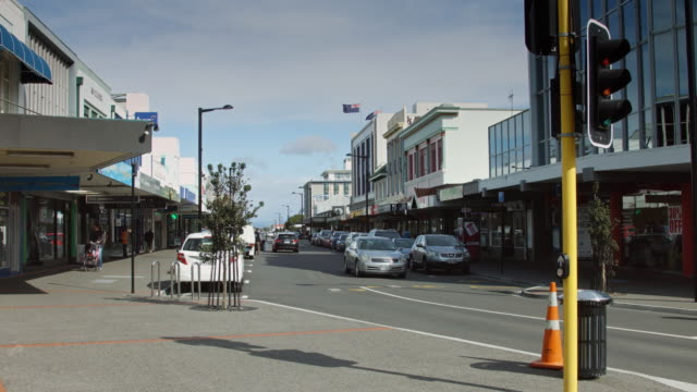 New Zealand Flag Over Napier Street