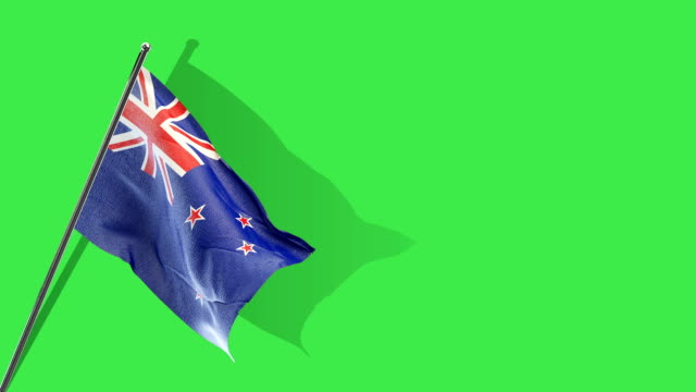 new zealand flag Rising