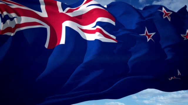 new zealand flag - waving icon stock videos & royalty-free footage