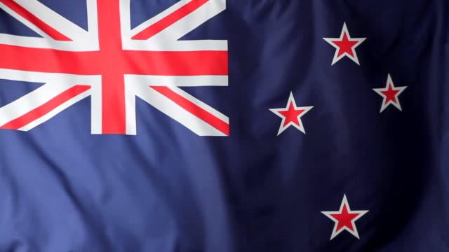CU New Zealand flag waving / Berlin, Germany