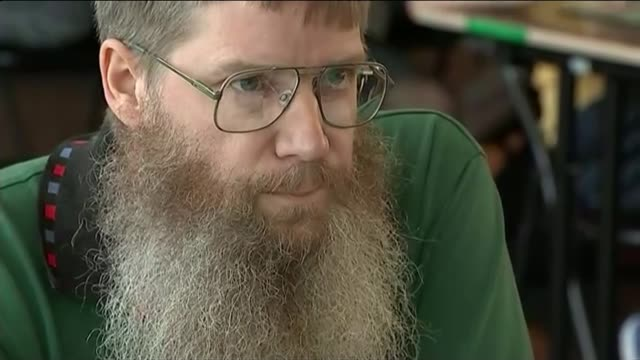 new zealand man wins french language scrabble championship; belgium: brussels: int close shot of nigel richards playing scrabble in competition/ - french language stock videos & royalty-free footage