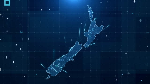 new zealand map connections full details background 4k - new zealand stock videos & royalty-free footage