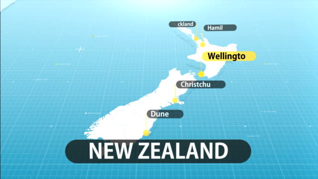 new zealand map - new zealand stock videos & royalty-free footage