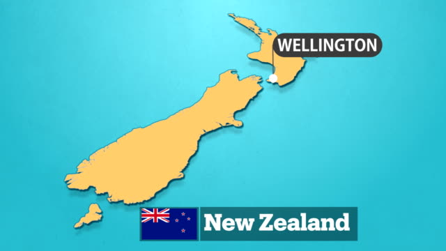 new zealand map with flag - new zealand stock videos & royalty-free footage