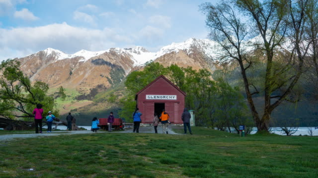 t\l new zealand nature landscape (glenorchy) - queenstown stock videos & royalty-free footage