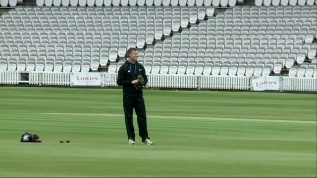 New Zealand practice ahead of the Lords test match v England ENGLAND London Lords cricket ground EXT England cricket captain Alastair Cook speaking...
