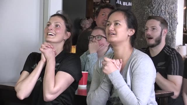 new zealand rugby fans react to the all blacks performance after the defending champion's recordbreaking quarterfinal demolition of france - record breaking stock videos & royalty-free footage
