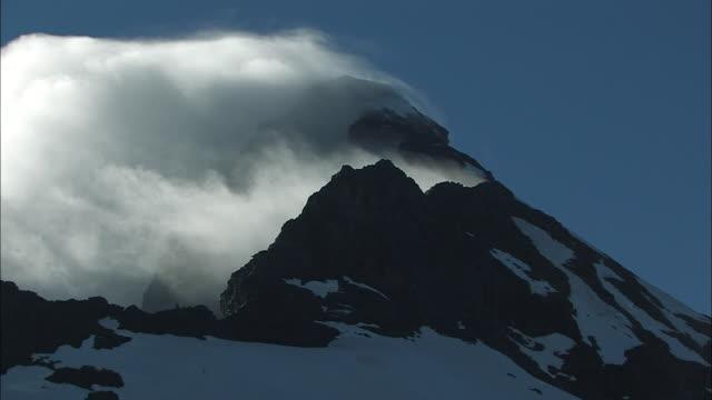 vidéos et rushes de new zealand; southern alps; mount. aspiring - mont aspiring